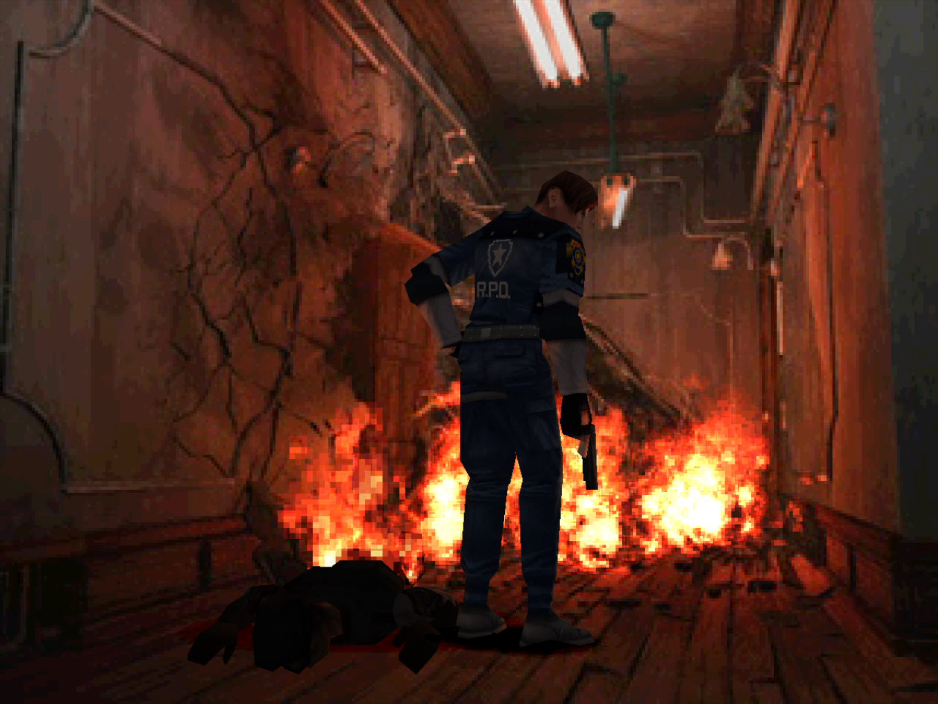 Resident Evil 2 with the experimental GL renderer.