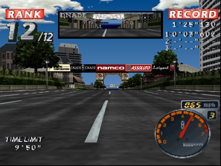 Rage Racer using experimental GL renderer