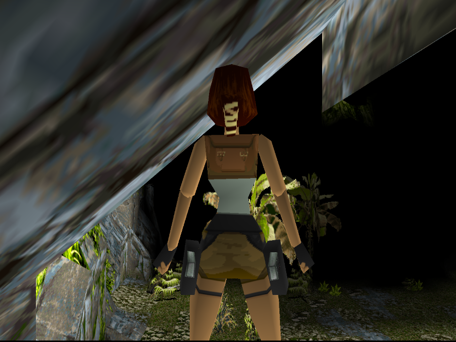 Picture of Tomb Raider with 3 point N64 filtering