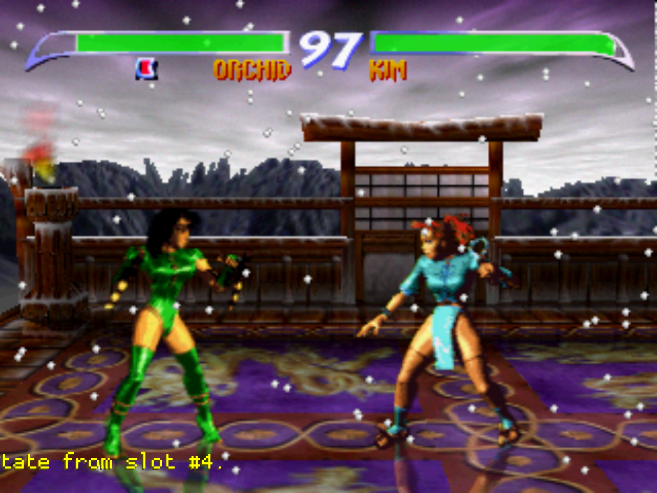Killer Instinct Gold running in ParaLLEl. This background would normally be glitched in any other HLE plugin.